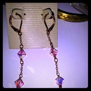 Lori Lori pink Swarovski Crystal earrings